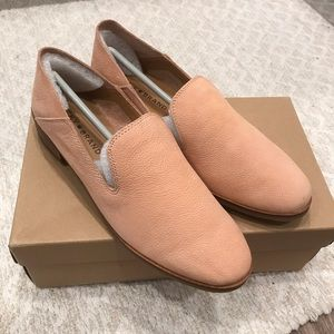 NWT lucky brand cahill nude leather loafers 7.5